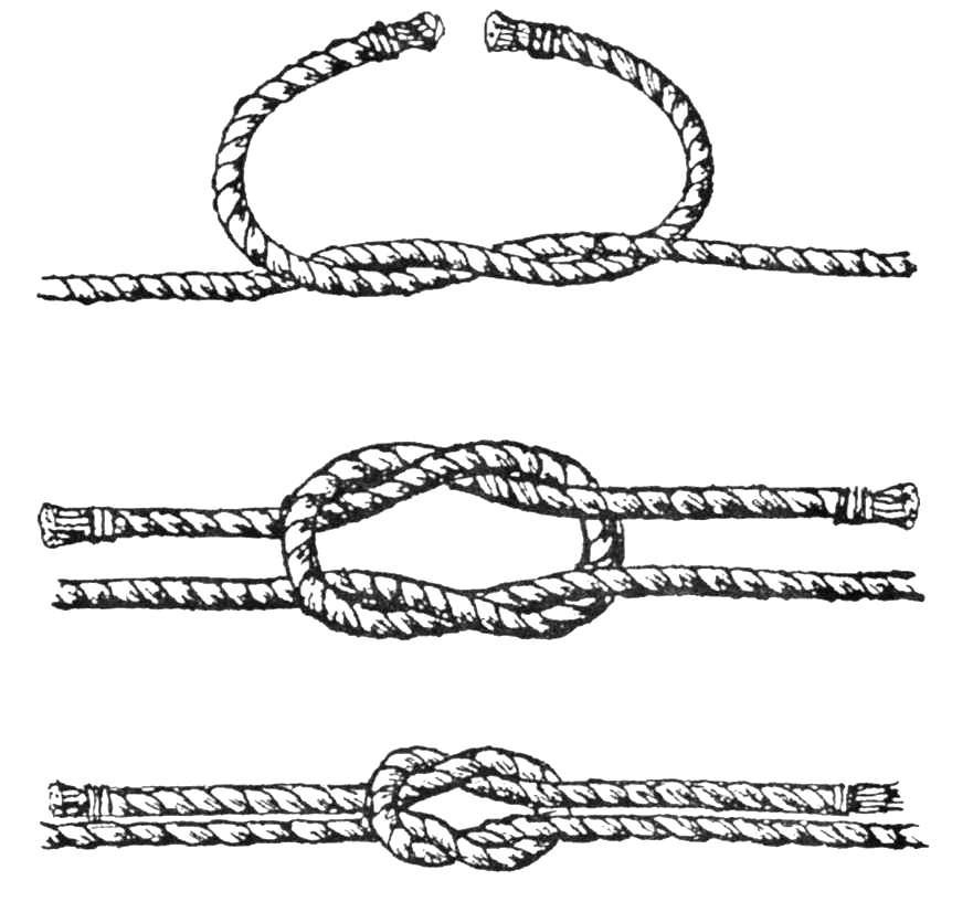 Схемы вязания морского узла
